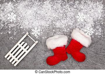 Christmas greeting card. Noel festive background. New year symbol.