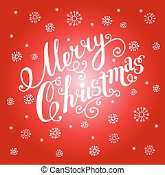 Christmas greeting card on a red background.