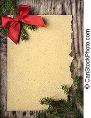 Christmas Greeting Card - Christmas decoration and vintage...