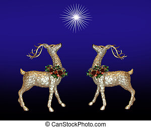 Christmas greeting card reindeer