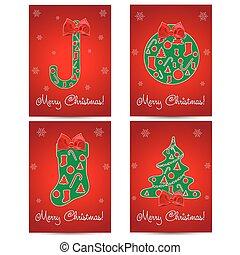 Christmas Greeting Card set.