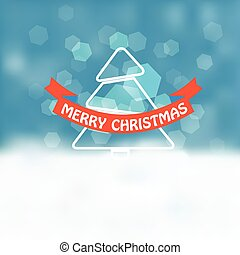 Christmas greeting card. Snowfall on Winter
