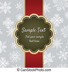 Christmas greeting card template de