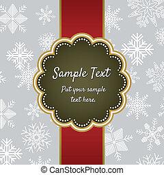 Christmas greeting card template de