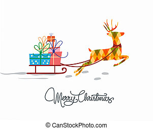 christmas greeting card template in white