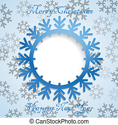 Christmas greeting card template. Ready for a text