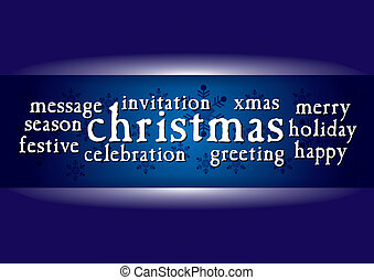 Christmas greeting card - template with abstract decoration
