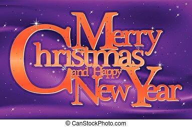 Christmas greeting card, vector