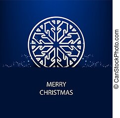 Christmas Greeting Card. Vector ill