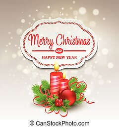 Christmas greeting card. Vector illustration