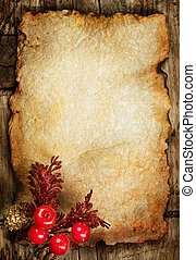 Christmas Greeting Card. Vintage Styled