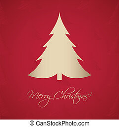 Christmas greeting card with a special christmas tree