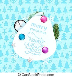 Christmas greeting card with accessories