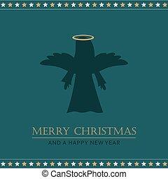 christmas greeting card with angel
