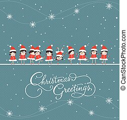 christmas greeting card with baby