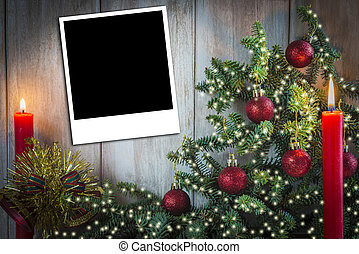 Christmas greeting card with candles
