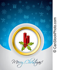 Christmas greeting card with candles - Christmas greeting...