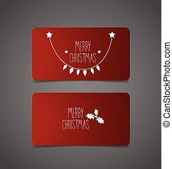 Christmas Greeting Card with Christmas tree, vector illustration.