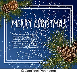 Christmas greeting-card with fir-tree