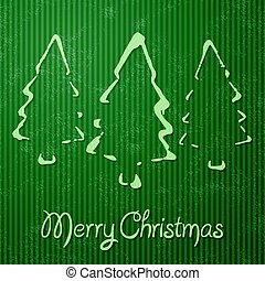 Christmas greeting card with green background