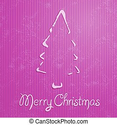 Christmas greeting card with pink