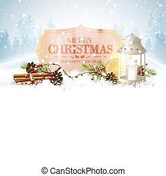 Christmas greeting card with place for text
