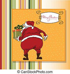 Christmas greeting card with Santa