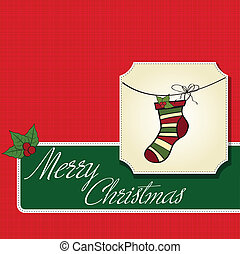 Christmas greeting card with socks
