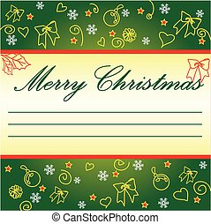 Christmas greeting card with wreath. It may be a good gift...