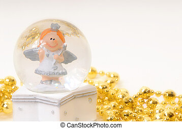 Christmas greeting cards, fairy water ball happy