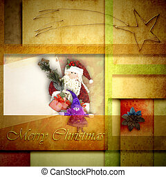 Christmas greeting cards Santa