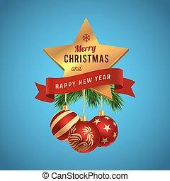 Christmas greeting logo