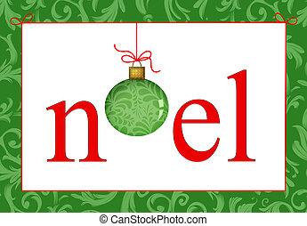 Christmas Greeting Noel