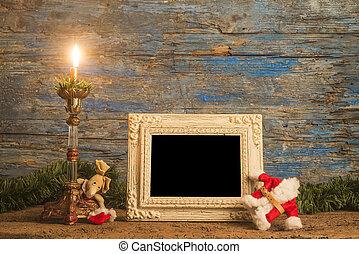 Christmas greeting photo frame card