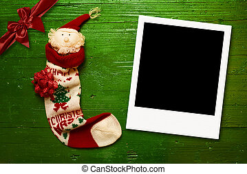 Christmas greeting photo frames cards