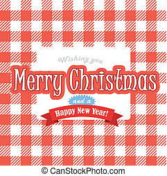 Christmas greeting red card