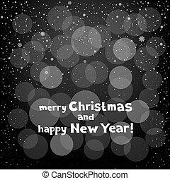 Christmas greeting snow circles background