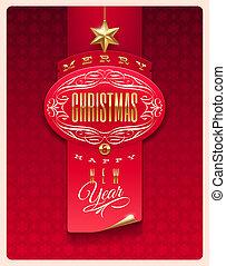 Christmas greeting vector design