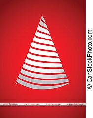 Christmas greeting, vector illustration
