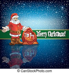 Christmas greeting magic scroll with wax seal of santa claus christmas greeting with santa claus and snowflakes m4hsunfo Images