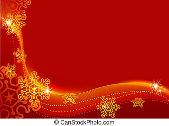 Christmas Greetings - Abstract Background Illustration,...