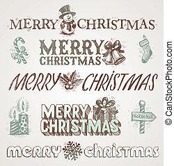 Christmas greetings and signs