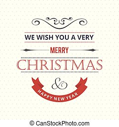 Christmas greetings card with light background colourful typography.