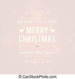 Christmas greetings card with red background white typography with dear.