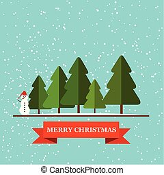 Christmas greetings card with typography vector