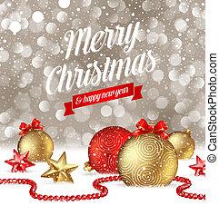 Christmas greetings illustration