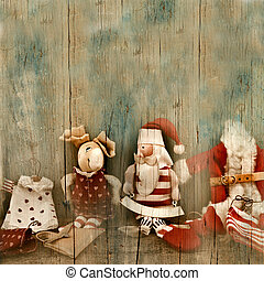 Christmas greetings, Vintage Santa