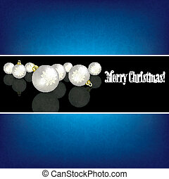 Christmas grunge background with white decorations