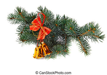 Christmas hand bells - Hand bells on a Christmas New Year ...