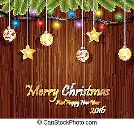 Christmas Hand design with balls